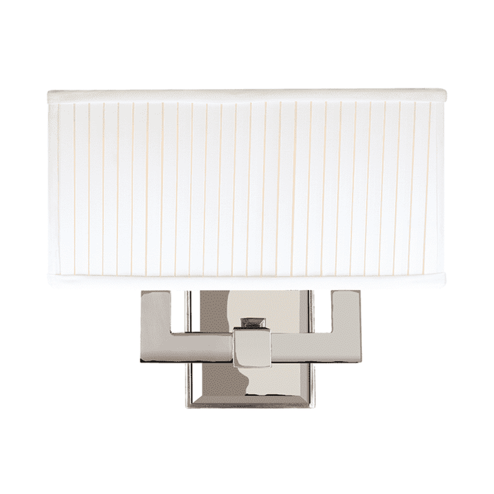 Waverly 2 Light Wall Sconce Polished Nickel