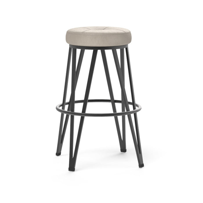 Matthews Swivel Barstool - Black - Bravo Cream