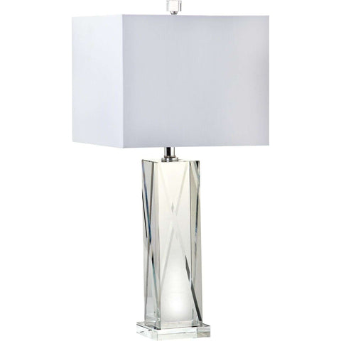 "26""H ""X"" Crystal Table Lamp"