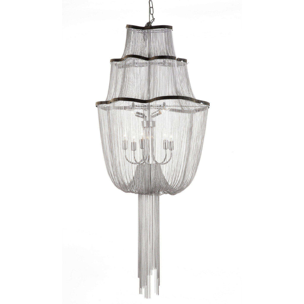 Mid century modern reproduction atlantis suspension light three tier mid century modern reproduction atlantis suspension light three tier chain chandelier inspired by barlas baylar arubaitofo Choice Image