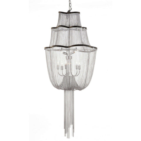 Mid-Century Modern Reproduction Atlantis Suspension Light Three Tier Chain Chandelier Inspired by Barlas Baylar