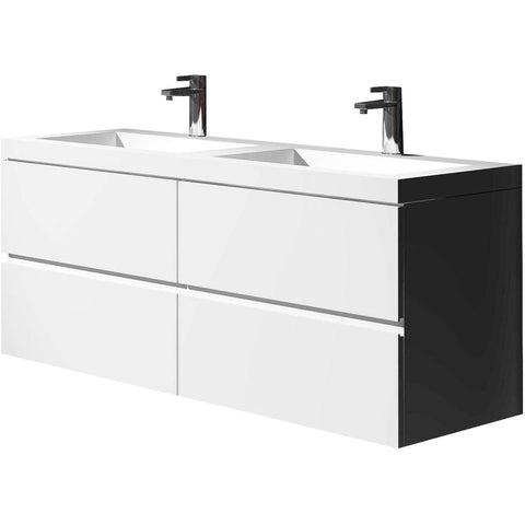 The Edana true solid surface sink and cabinet