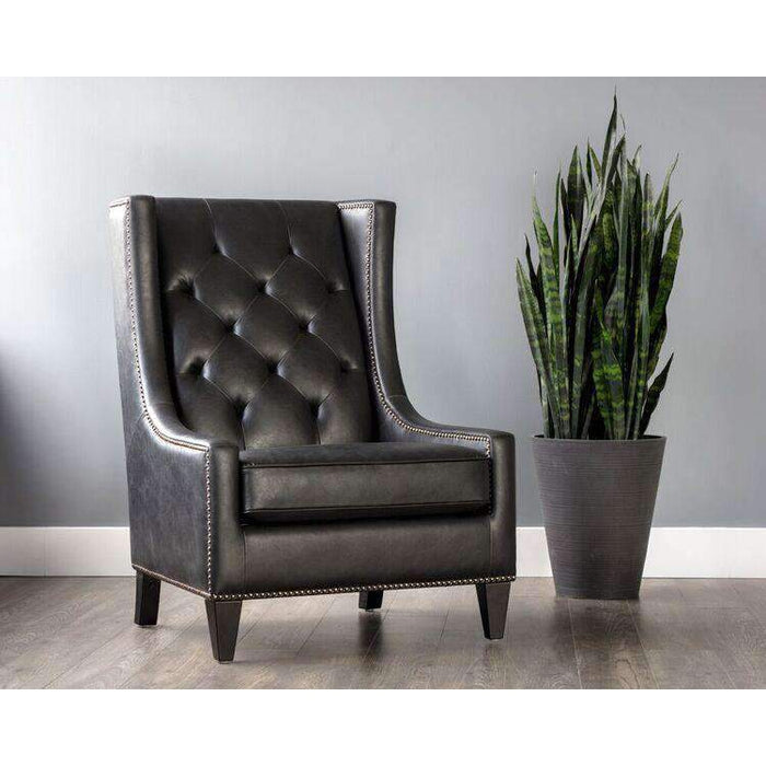 Ohio Armchair - Coal Black