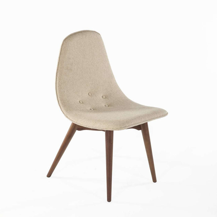 Mid-Century Modern Reproduction Contour Dining Chair - Beige Inspired by Grant Featherston