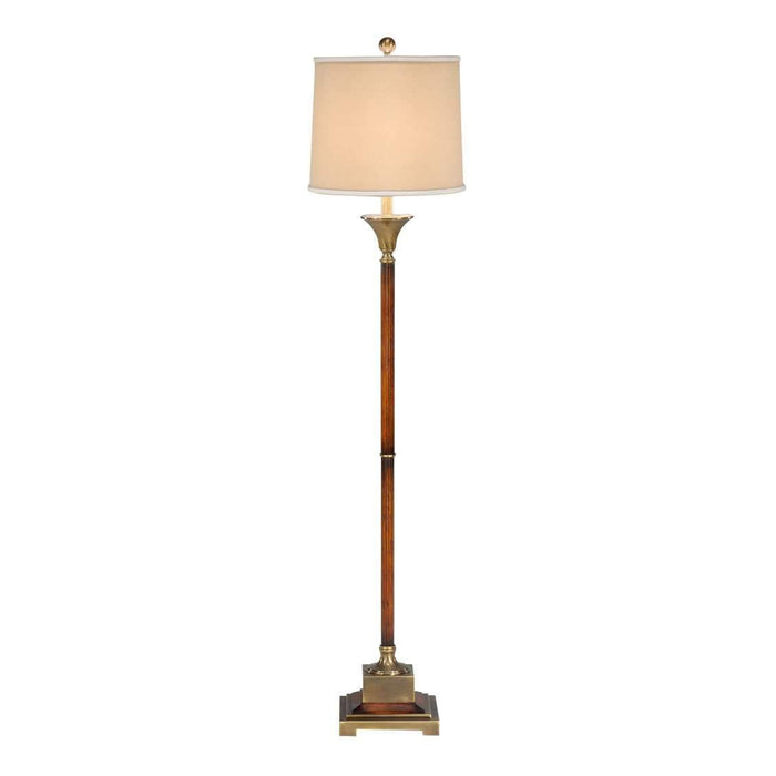 Fluted Wood Floor Lamp