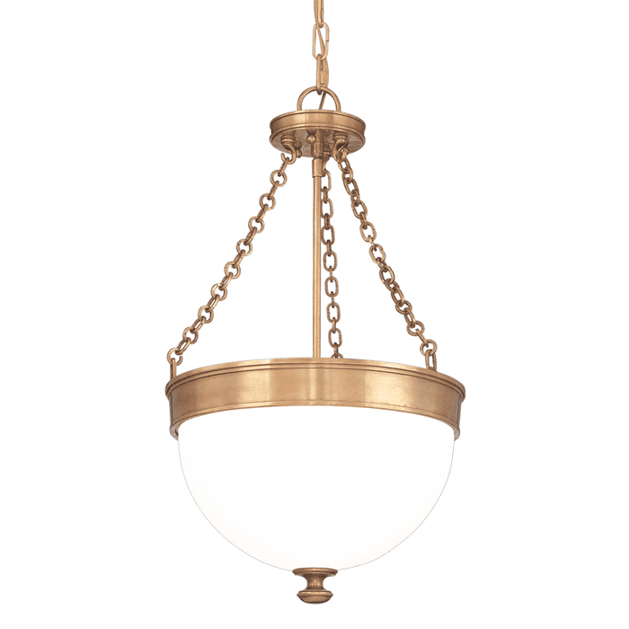 Barrington 3 Light Pendant Aged Brass