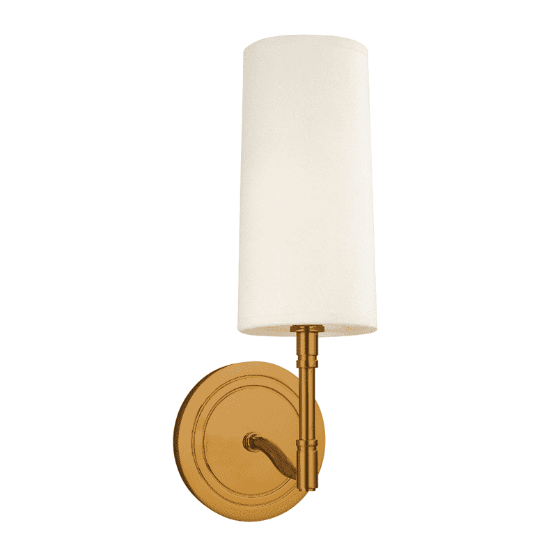 Dillon 1 Light Wall Sconce Aged Brass
