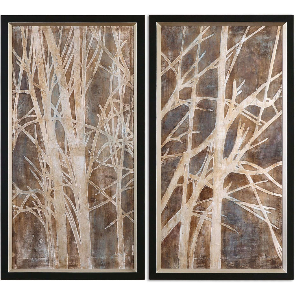 Uttermost Twigs Hand Painted Art, S/2