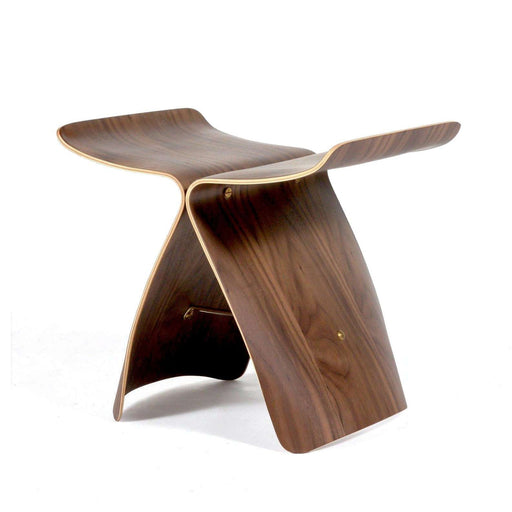 Mid-Century Modern Reproduction Butterfly Stool - Walnut Inspired by Sori Yanagi