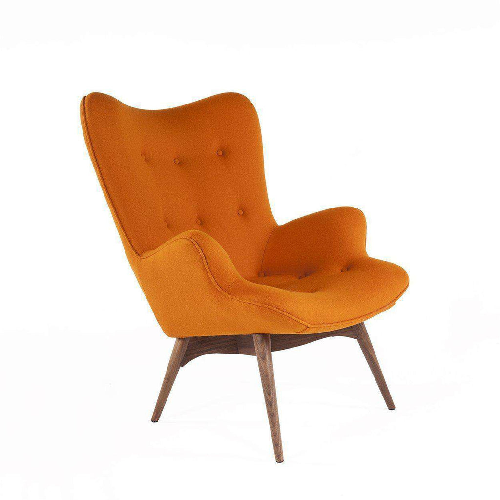 Mid-Century Modern Reproduction Contour Lounge Chair - Orange Inspired by Grant Featherston