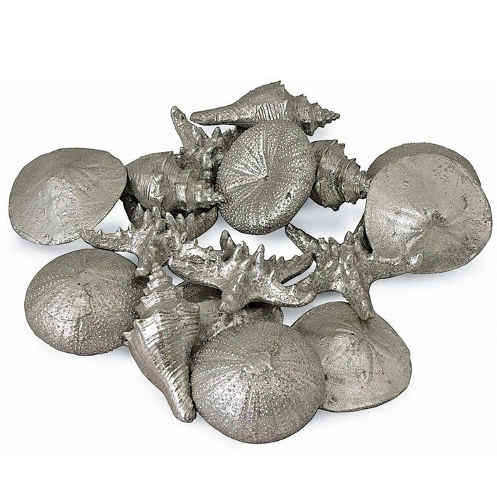 Assorted Mini Seashells Set of 12 (Silver)