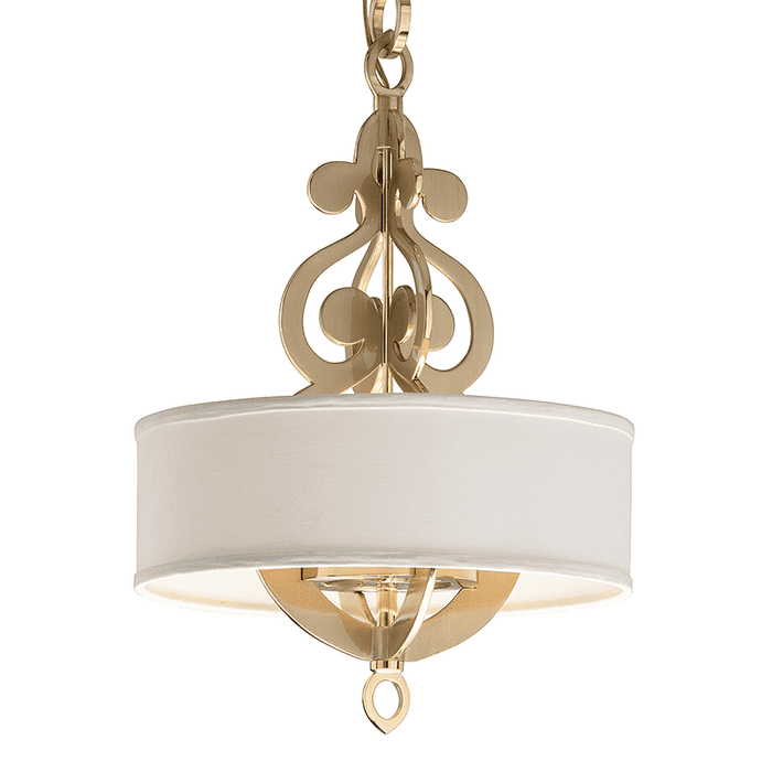Olivia 4Lt Pendant Satin And Polished Brass