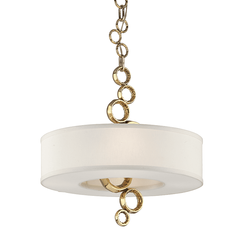 Continuum 4Lt Pendant W/Shade Polished Brass