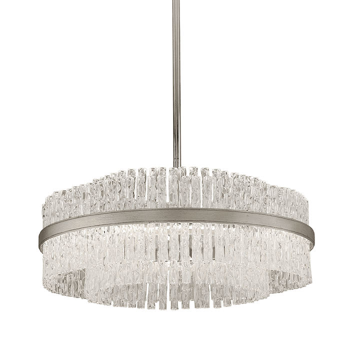 Chime 8Lt Pendant Silver Leaf Polished Stainless