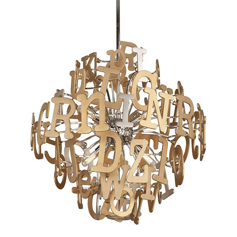 Media 6Lt Pendant Multi-Leaf With Stainless