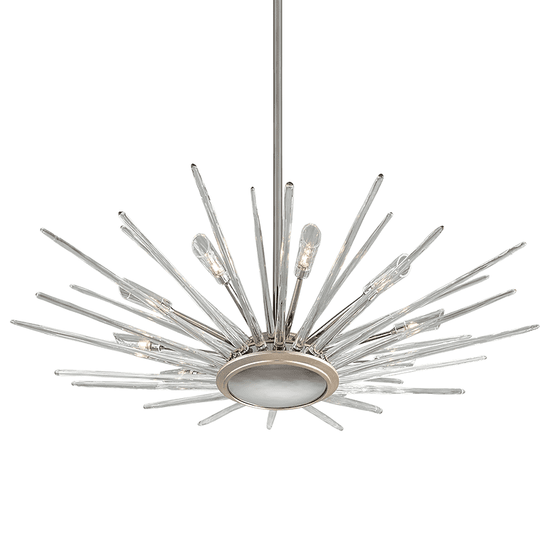 Chill 10Lt Pendant Silver Leaf Polished Stainless