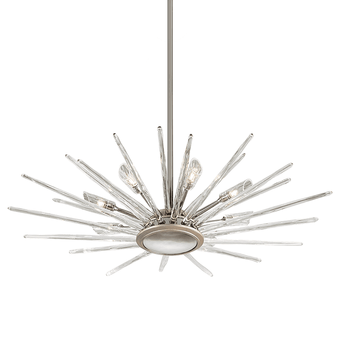 Chill 8Lt Pendant Silver Leaf Polished Stainless