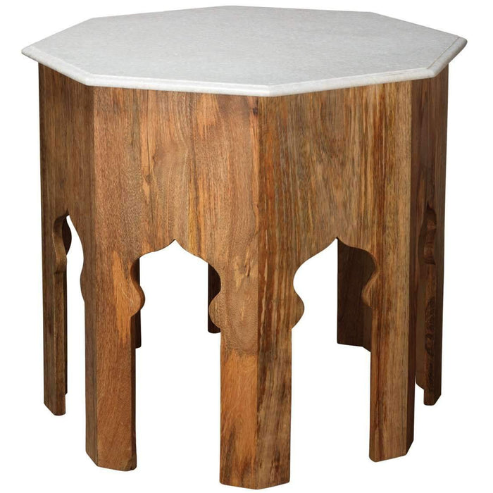 Large Atlas Side Table in White Marble