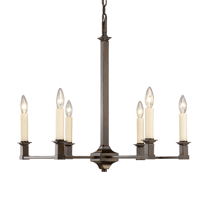 Bradley 6 Light Chandelier in Cordoban Bronze