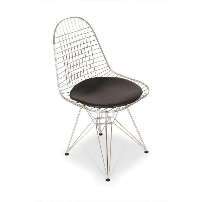 Mid-Century Modern Reproduction Wire Chair with Seat Pad DKR.5 Inspired by Charles and Ray E.