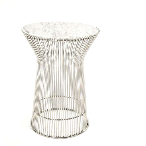 Mid-Century Modern Reproduction Marble Side Table Inspired by Warren Platner