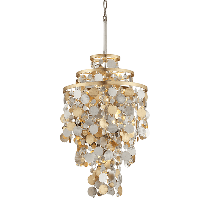 Ambrosia 5Lt Pendant Gold Silver Leaf & Stainless