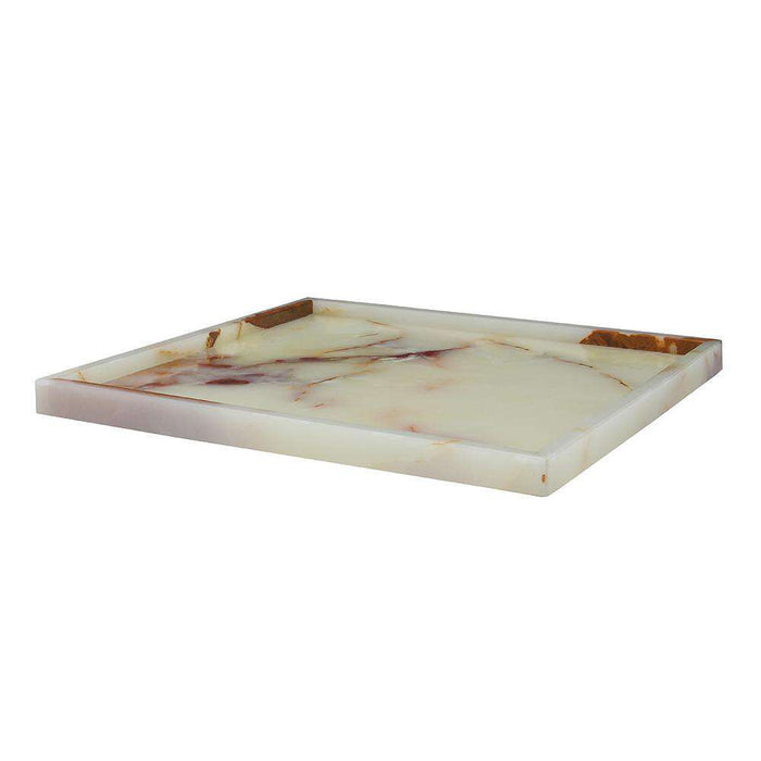 "Light Green 16"" Onyx Square Place Tray"