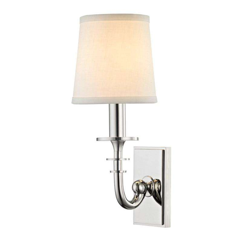Carroll 1 Light Wall Sconce Polished Nickel
