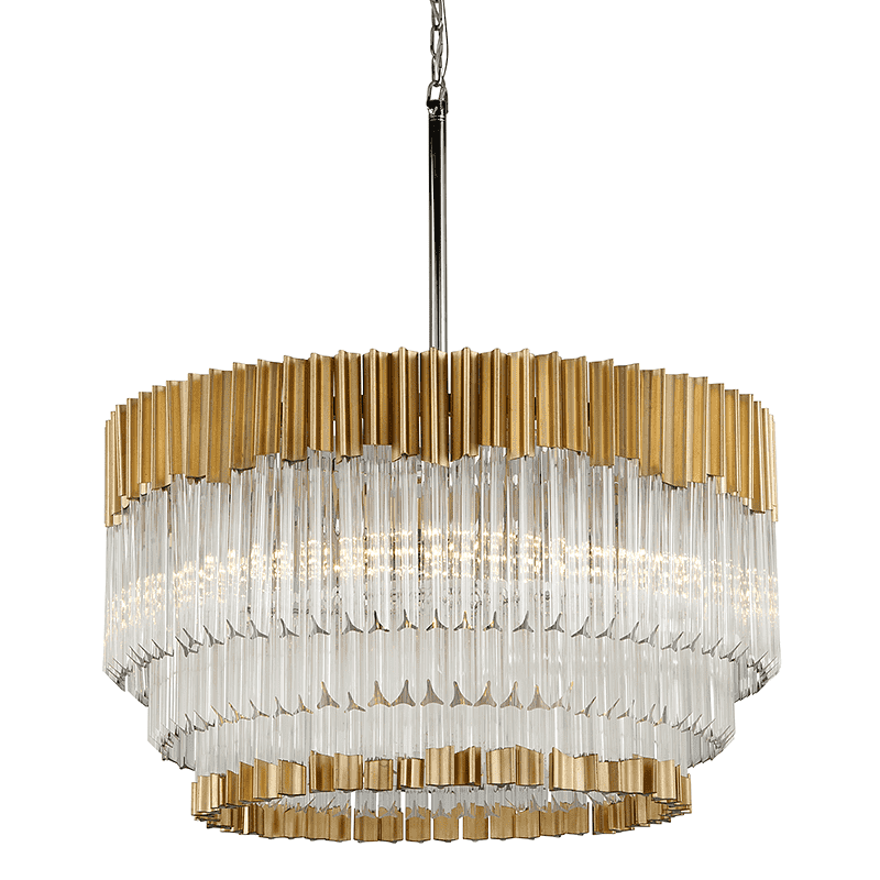 Charisma 8Lt Pendant Gold Leaf W Polished Stainless