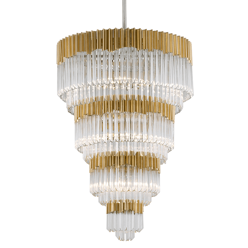 Charisma 17Lt Pendant Entry Gold Leaf W Polished Stainless