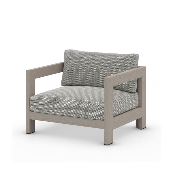 Caro Outdoor Chair-Brown/Stone Grey