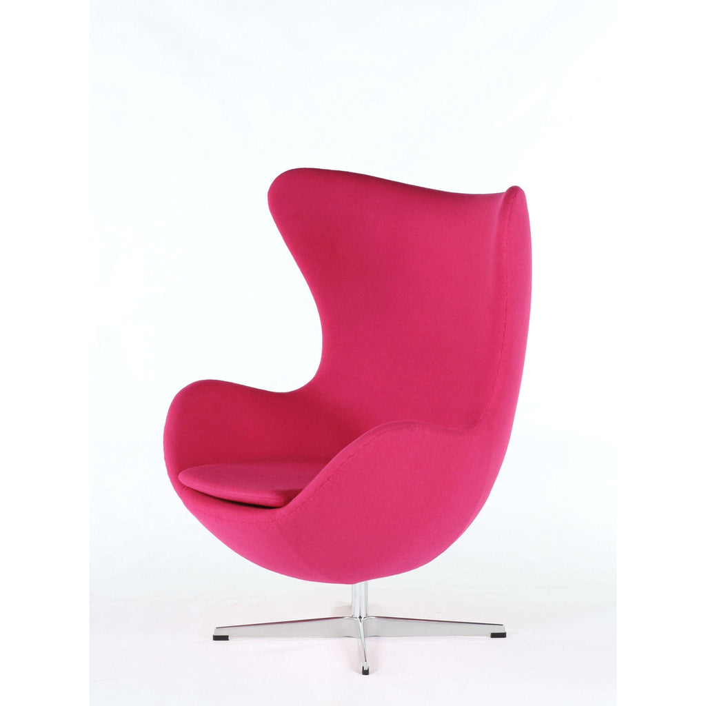 Mid Century Egg Chair   Rose **PICK UP ONLY**