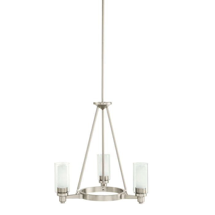 Circolo Chandelier 3 Light - Brushed Nickel