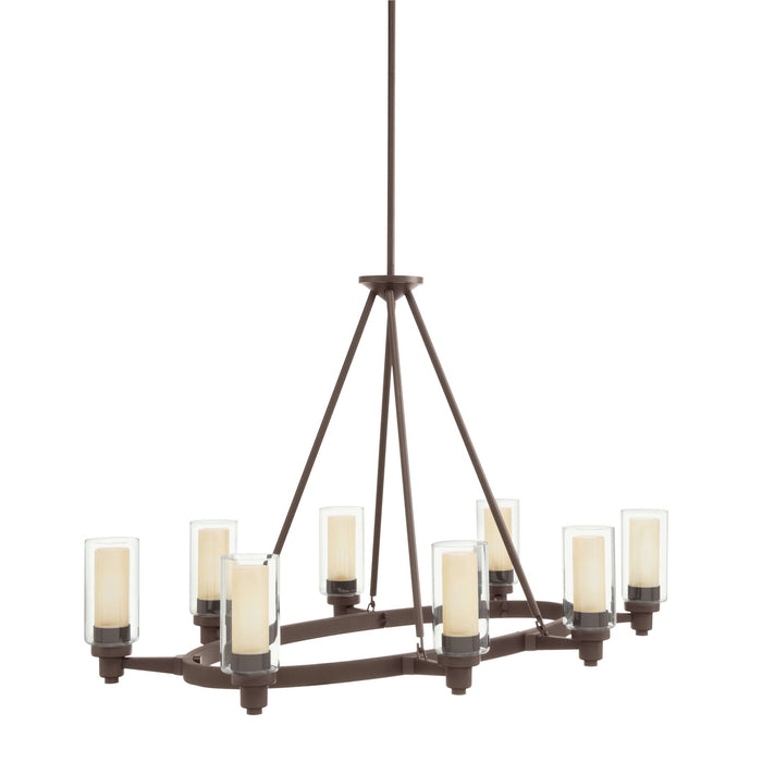 Circolo Oval Chandelier 8 Light - Olde Bronze