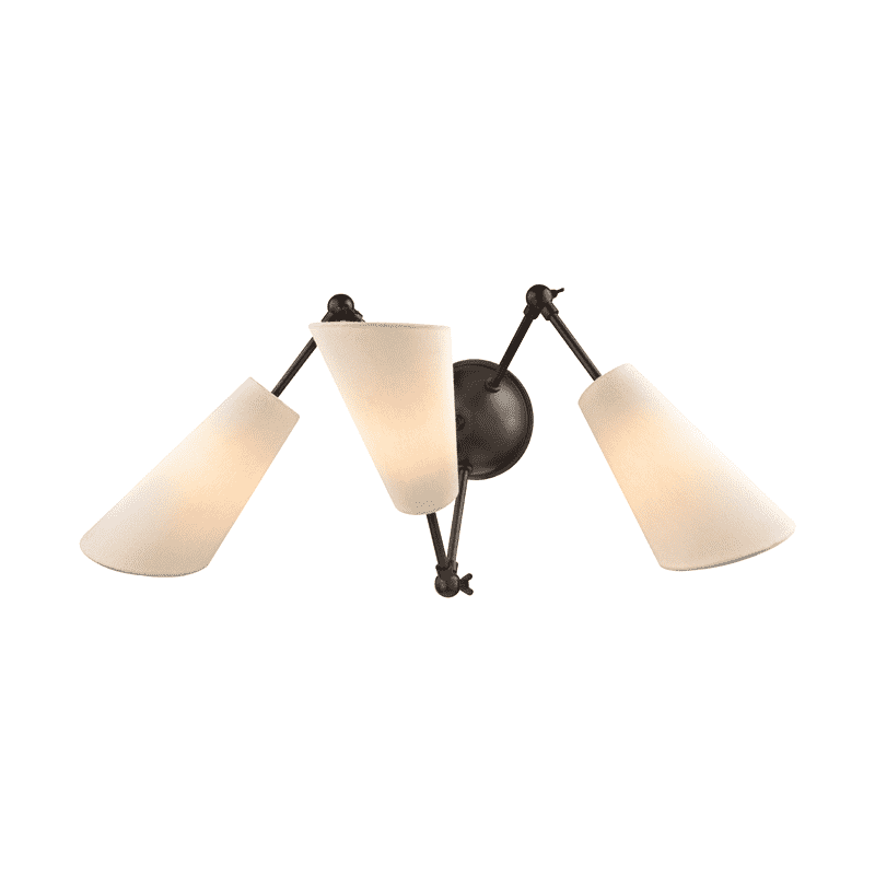 Buckingham 3 Light Wall Sconce Old Bronze