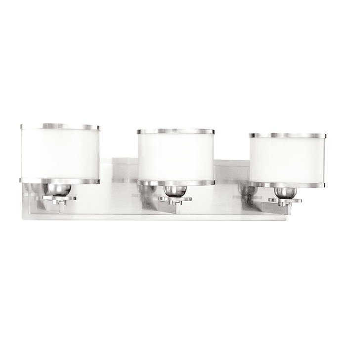 Basking Ridge 3 Light Bath Bracket Polished Nickel