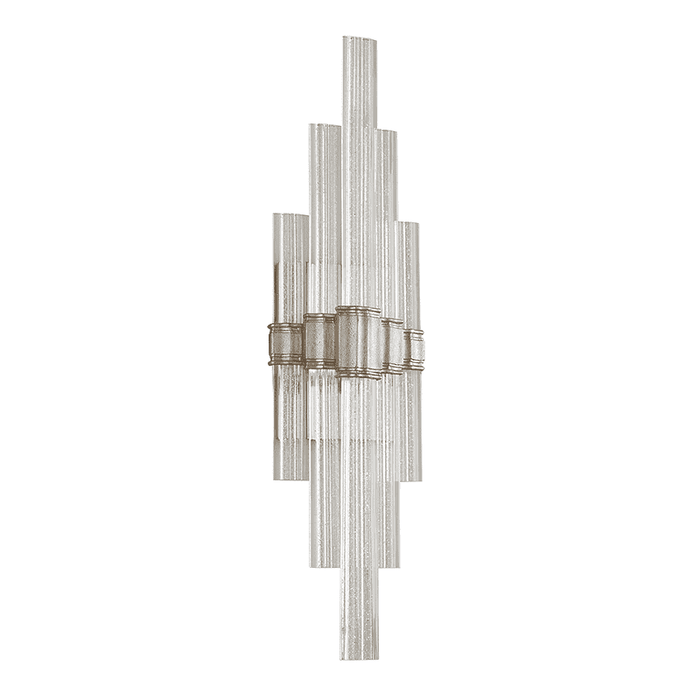 Voila 1Lt Wall Sconce Tall Silver Leaf