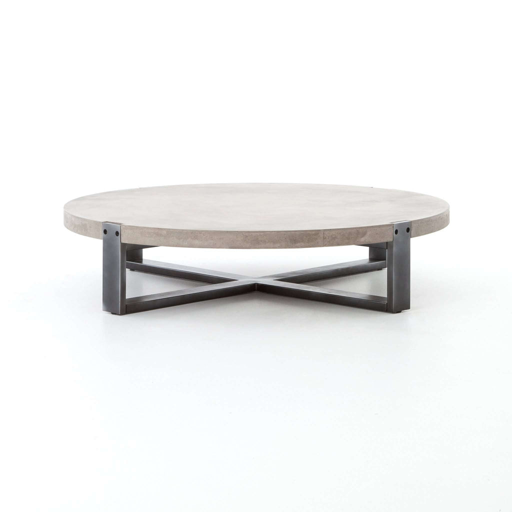 FOURHANDS-MERCURY ROUND COFFEE TABLE-FH-VBNA-CT415 — France & Son