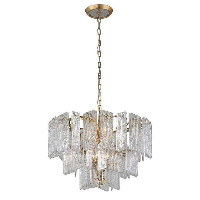 Piemonte 8Lt Chandelier Royal Gold