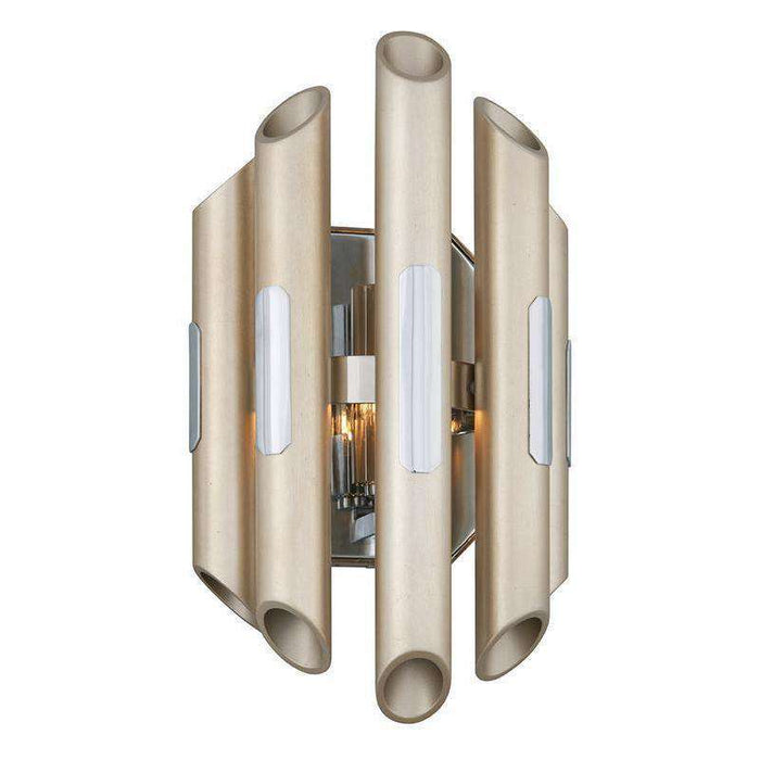 Arpeggio 1Lt Wall Sconce Antique Silver Leaf Stainless