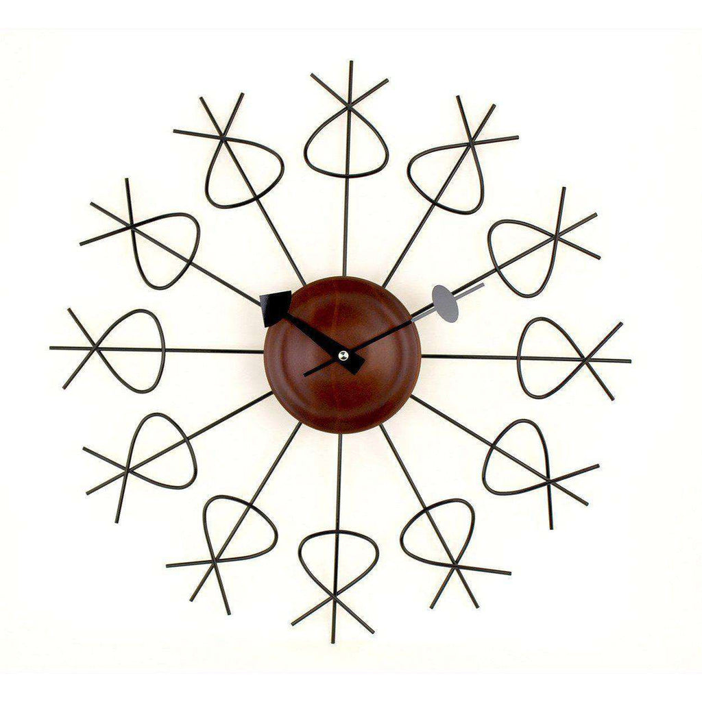 Mid-Century Modern Reproduction Pretzel Clock Inspired by George Nelson