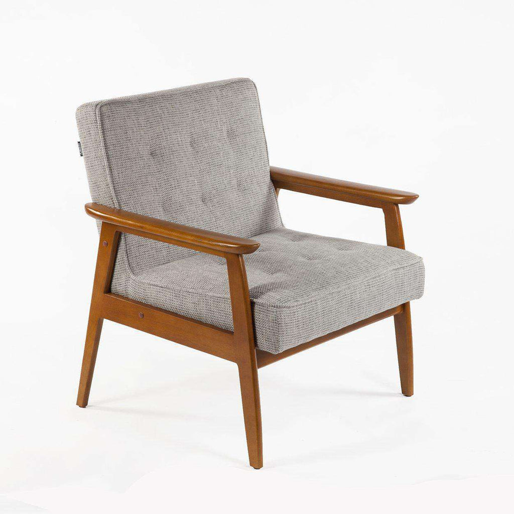Mid Century Modern Micheil Tufted Armchair - Grey