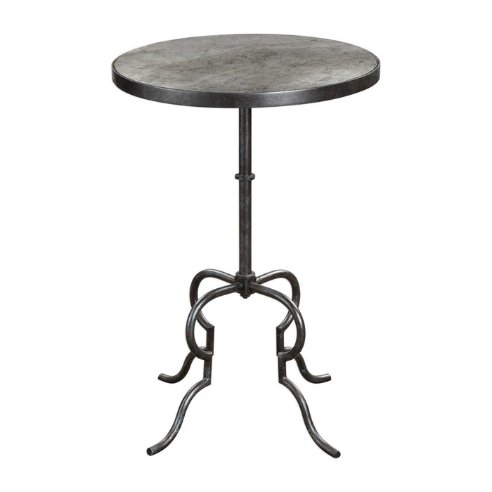 Janine Aged Black Accent Table