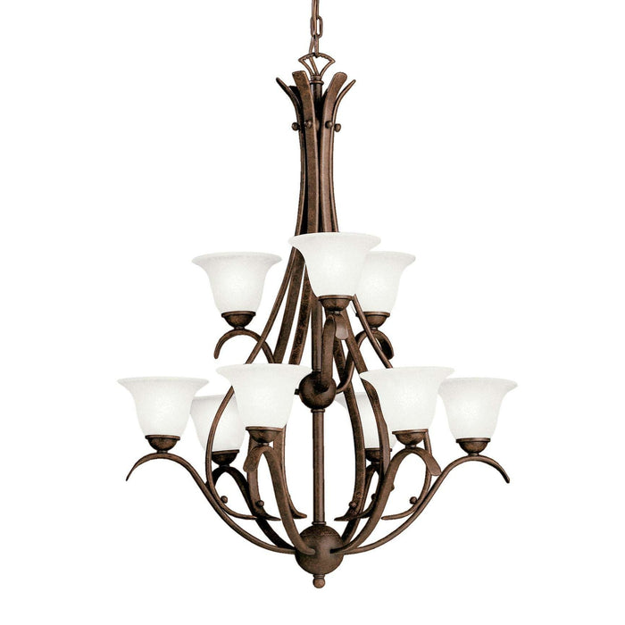 Dover Chandelier 9 Light - Tannery Bronze