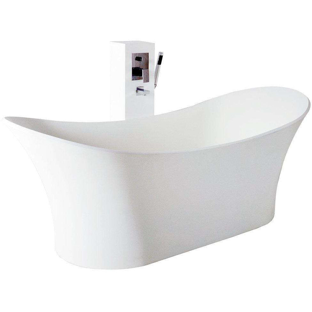 Controlbrand True Solid Surface Soaking Tub - Cloud Matte [new product] free shipping