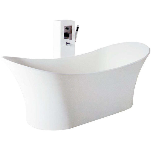 Controlbrand True Solid Surface Soaking Tub - Cloud Matte
