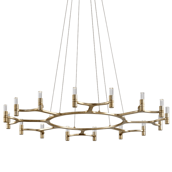 Nexus 16Lt Chandelier Satin Silver Leaf