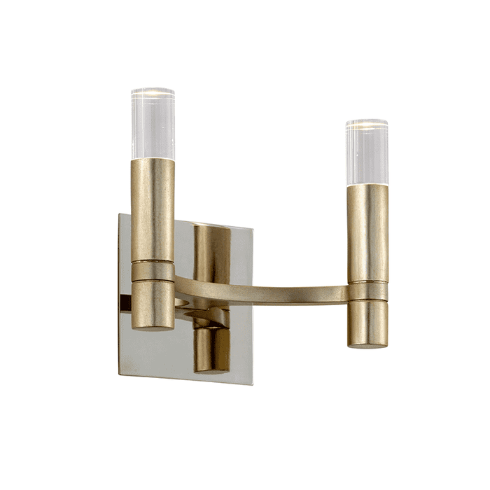 Nexus 2Lt Wall Sconce Satin Silver Leaf