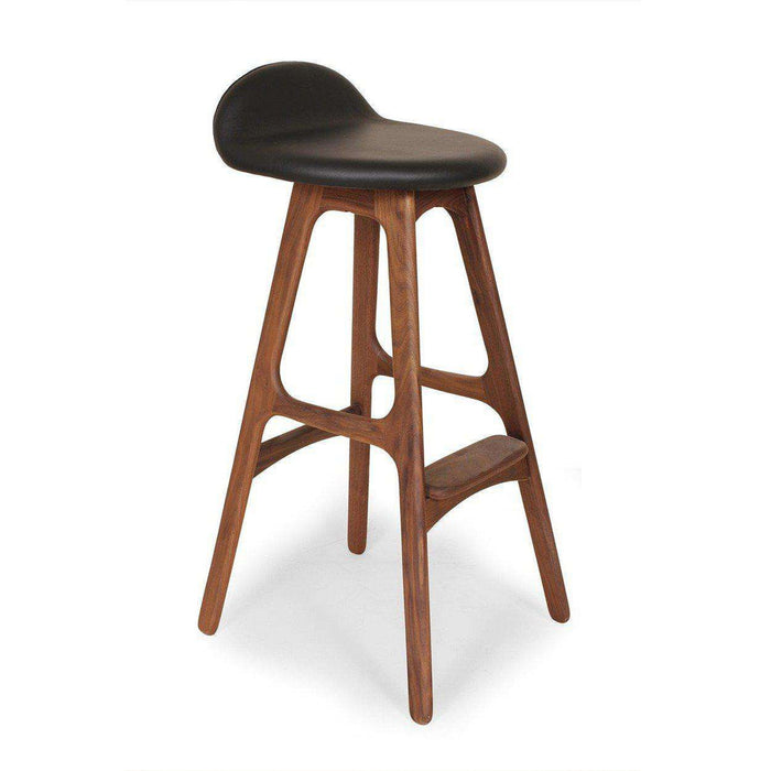 Mid-Century Modern Reproduction Buch Counter Stool - Walnut Inspired by Erik Buch