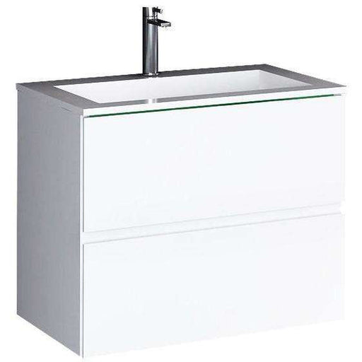 The Faolan true solid surface sink vessel plus cabinet